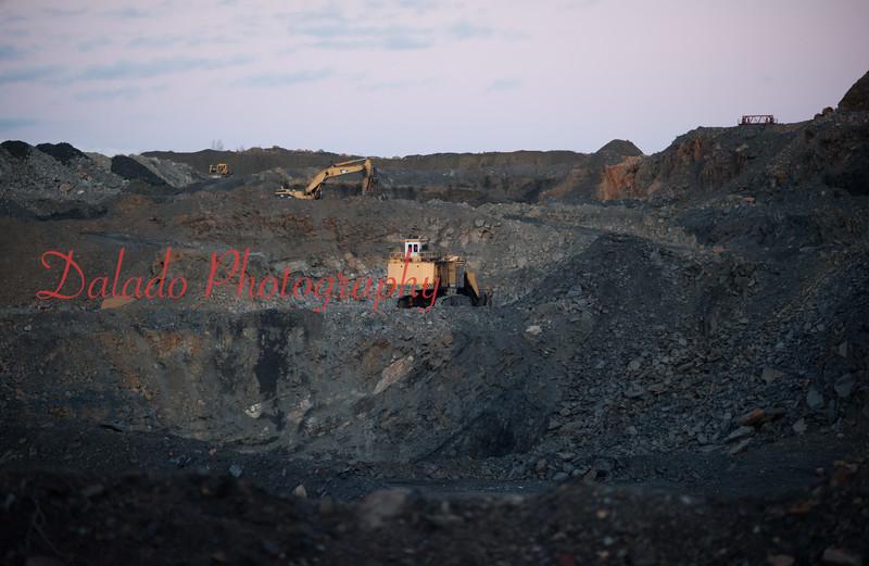 A huge pit near St. Nick. (Jan. 2015)