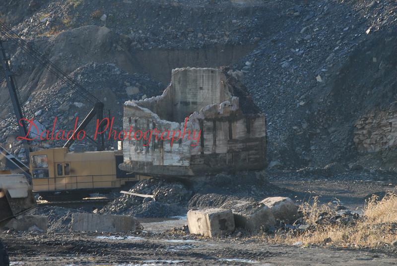 Stripping operation around the shaft in Locust Summit.