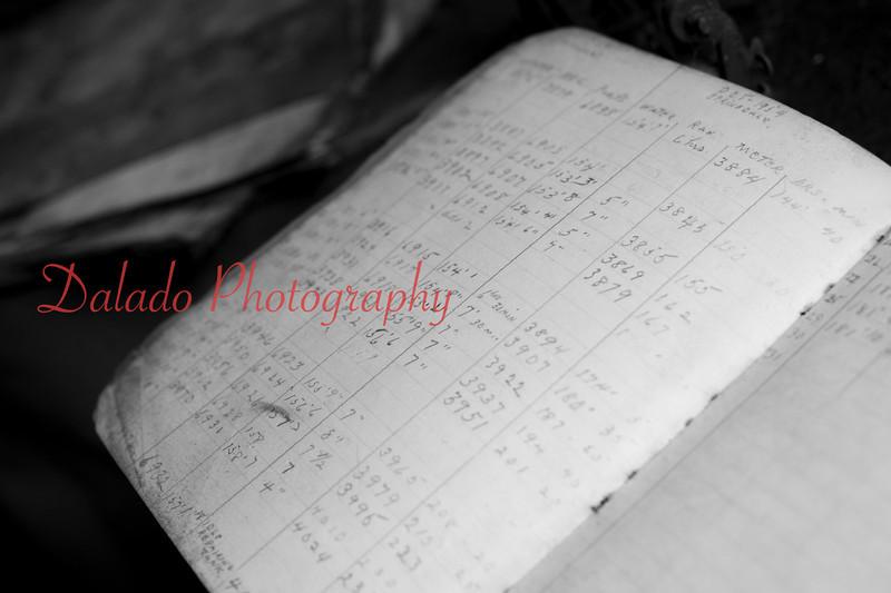 (Oct. 2013) Log book inside the St. Nick pump shaft.
