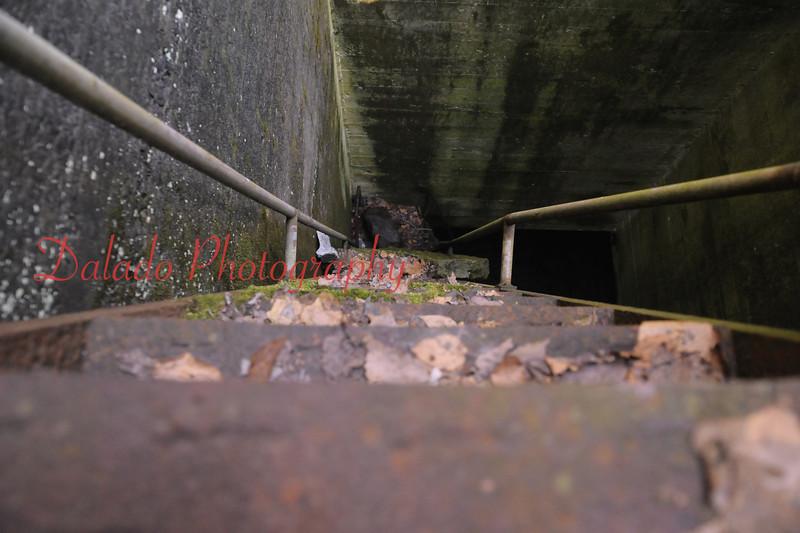 Weak steps in the shaft.