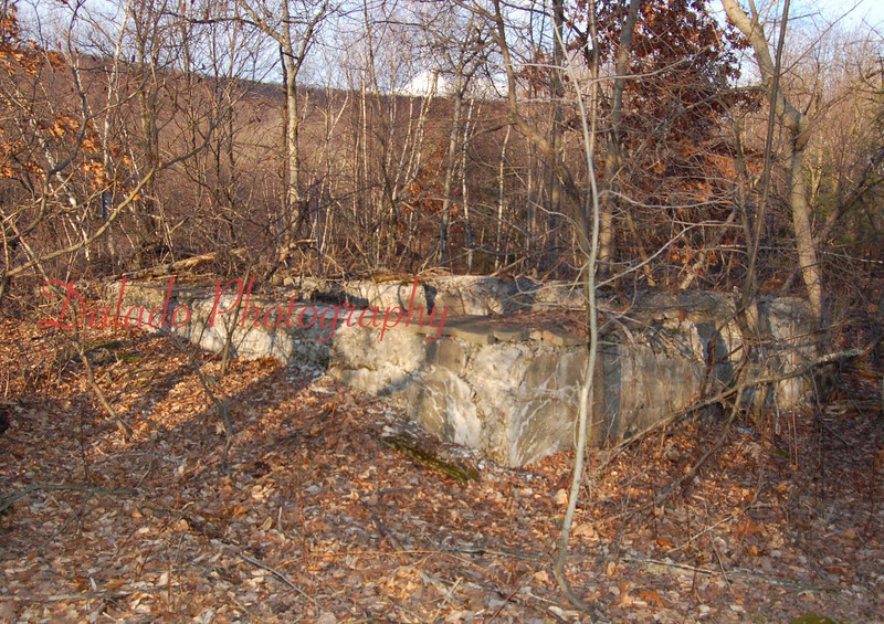 Remnant of a shaft near Marion Heights.