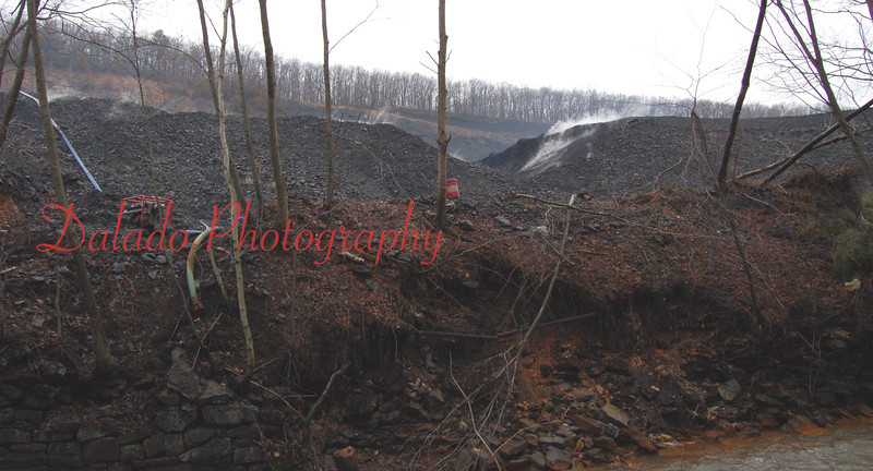 "Excelsior ""Mulch"" Fire- Shamokin Creek can be seen in the lower right-hand corner of the photo."