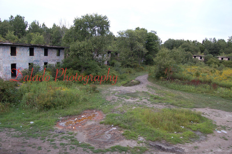 --The Concrete City was built by the Delaware, Lackawanna and Western Coal Company back in 1911. It was abandoned in 1924 after mining operations stopped. There were once 22 homes at this site.