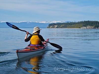 Kayaking to Savary Island