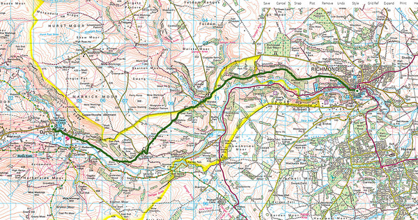 Day 9 Reeth to Richmond, Saturday 19 Sept 2015