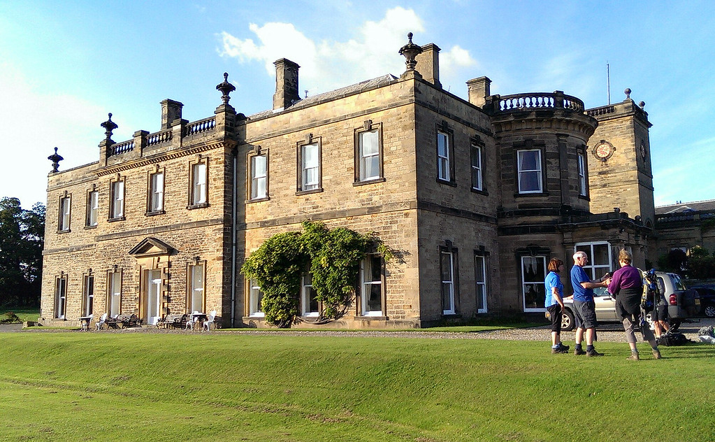 From the finish at Danby Wiske we were taken to our modest little B&B at Harforth Hall just in time for 'Pimms in the Garden' - which was held indoors.