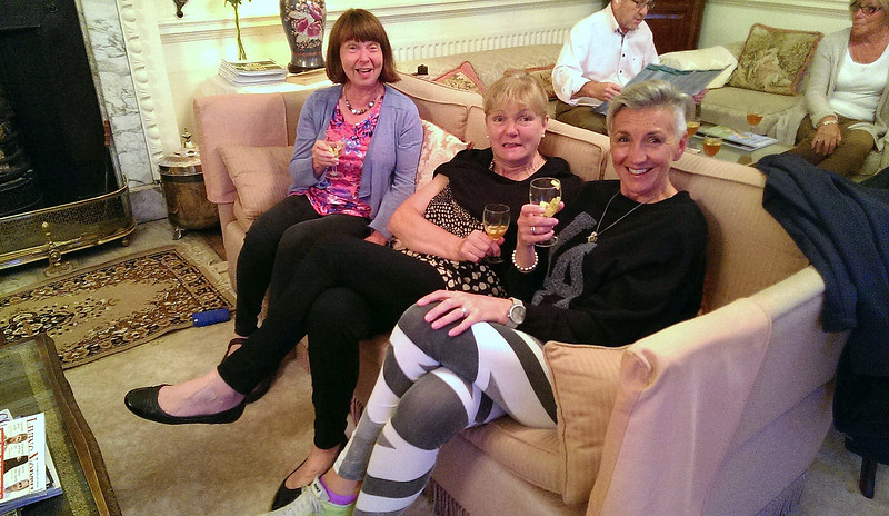 Chris, Liz and Loz having fun.