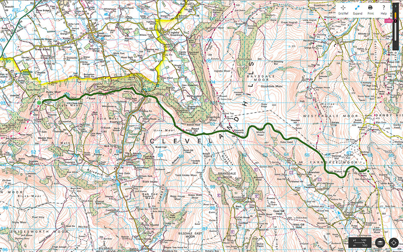 As usual the route walked is shown in green.