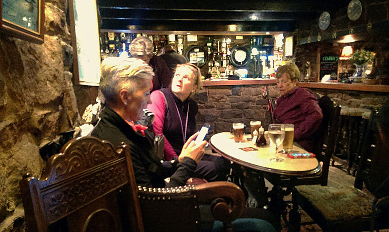 When we got to the pub I was absolutely exhausted but the healing process was about to begin with a tasty pint of Black Sheep bitter.   The others look quite subdued too!
