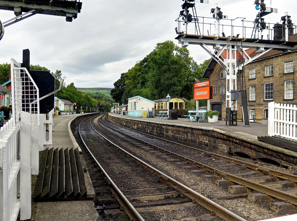 These are a few pictures of the well kept station at Grosmont on the North Yorkshire Moors Railway.