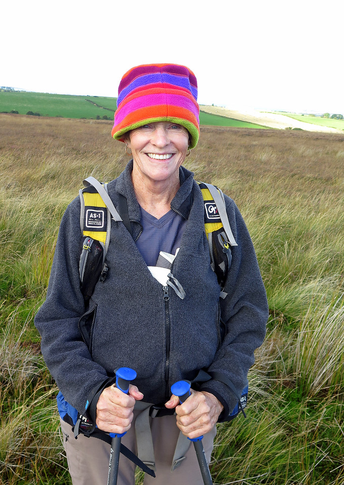 Now Pat takes the hat - it suits her much better than it did the previous wearer!