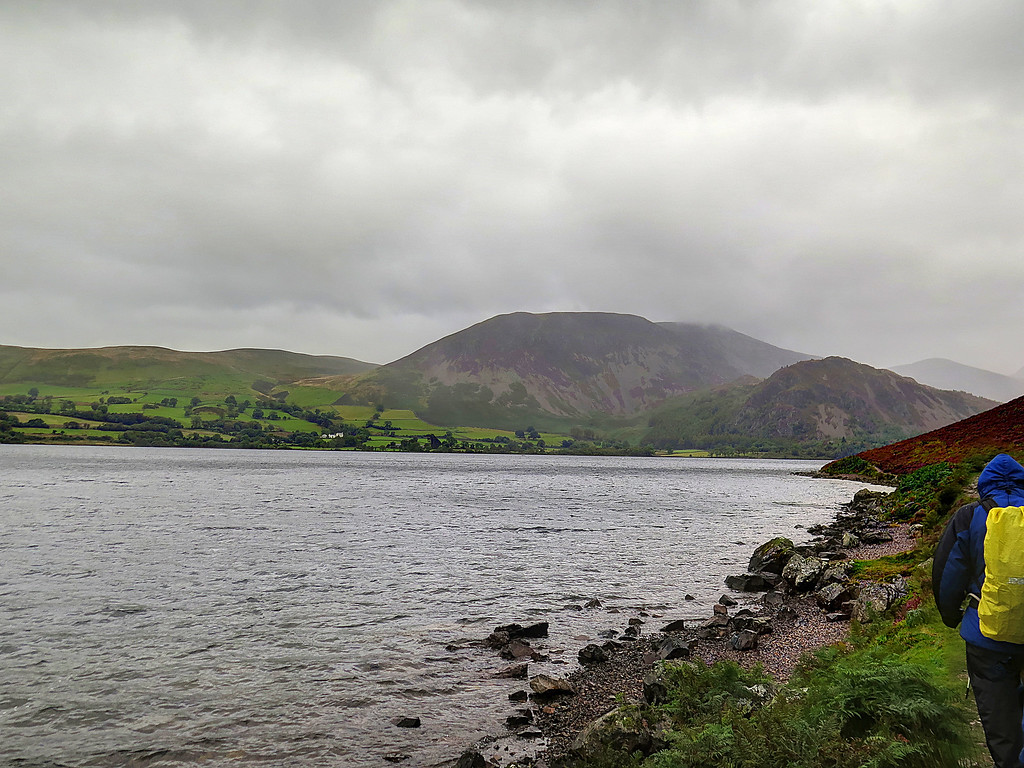 In steady rain we set out along Ennerdale Water