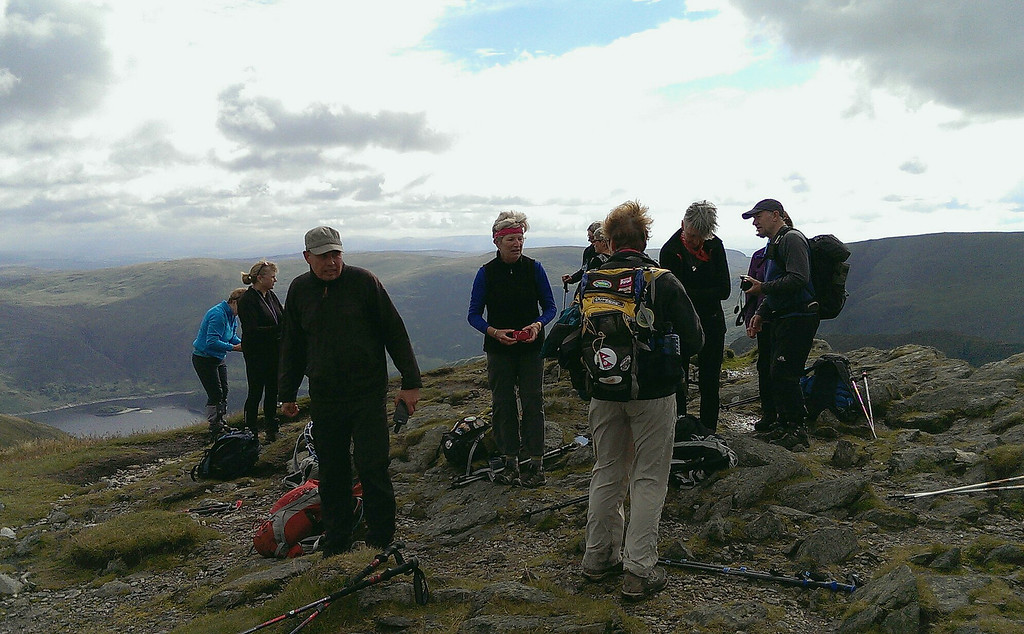 The highest point on the Coast to Coast path has been reached, Kidsty Pike, 708 metres or 2560 feet