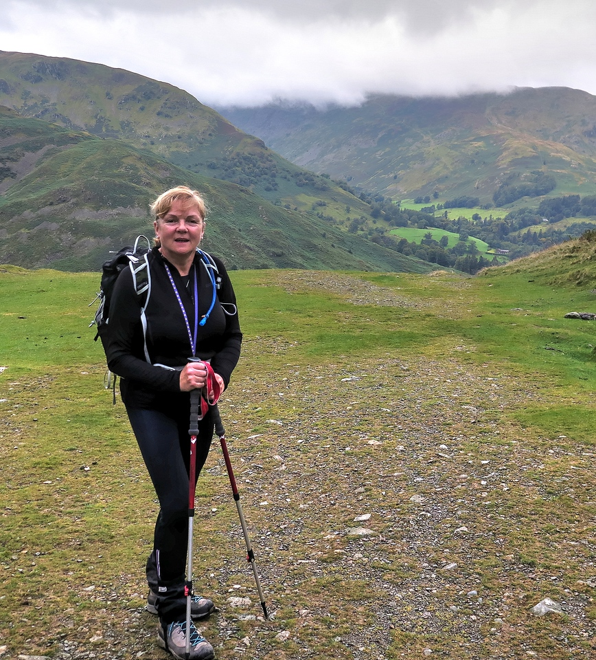 Here is Liz, who commendably is walking to raise money for her charity, the Dementia Friends initiative of the Alzheimers Society.