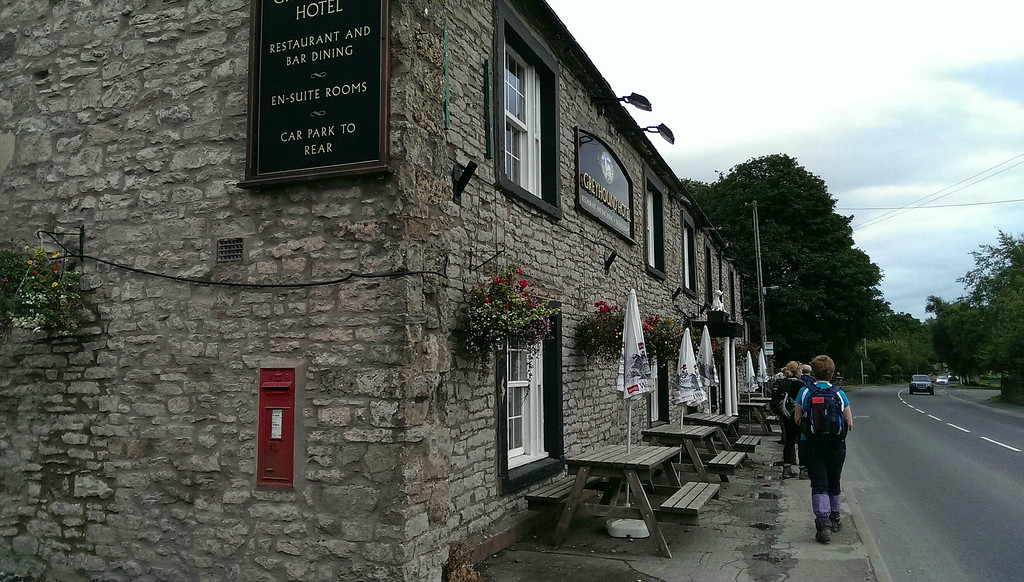 After a long days walk we reach our billet for tonight, the Greyhound Hotel at Shap