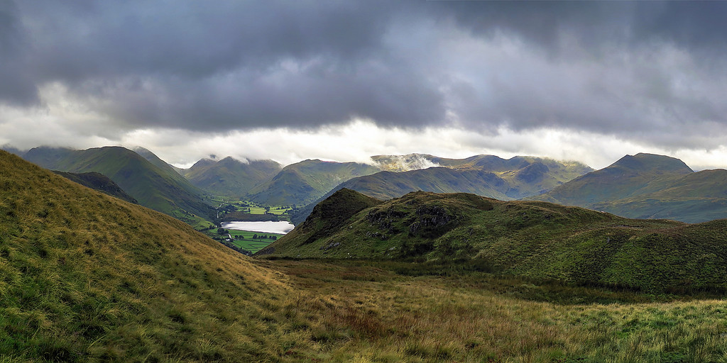 Brotherswater is just visible beyond the hills