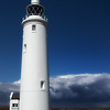 Lighthouse at Hurst Castle, Solent, Hampshire.