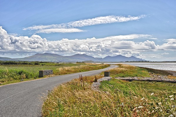 Foryd Bay Towards Lleyn Peninsula, North Wales.