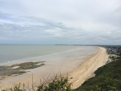 Looking north towards Granville town, Normandy.