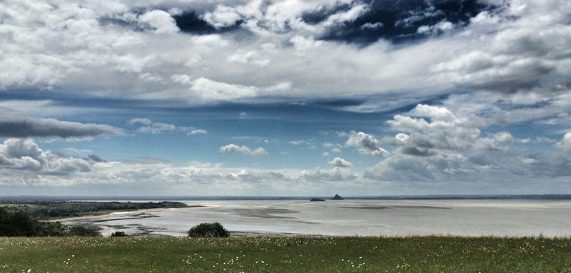 Looking south across the bay to Mont St Michel