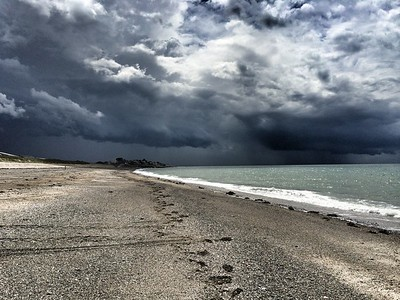 Storm over Granville, Normandy.