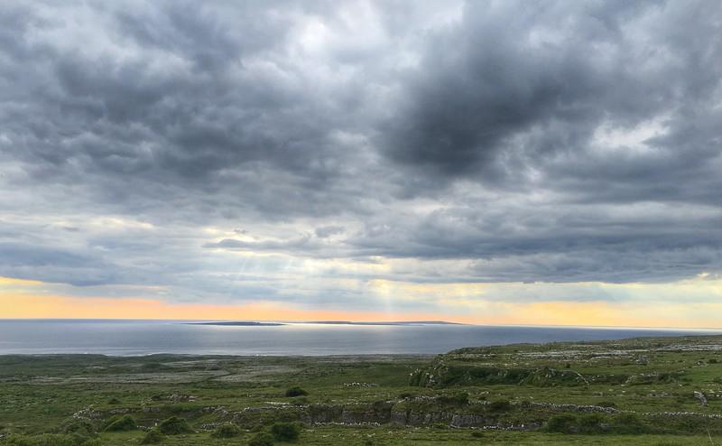 Towards Aran Islands from near Doolin, Ireland.