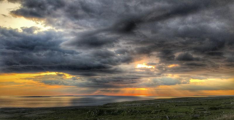 Towards the Aran Islands, Ireland.