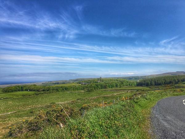 Looking towards Ballinalacken Castle, near Doolin, County Clare, Ireland