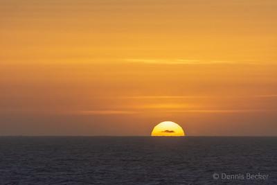 Sunset over Mendocino, CA