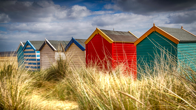 The colourful Beach Huts of Suffolk
