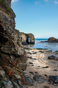 Perranporth rock arch