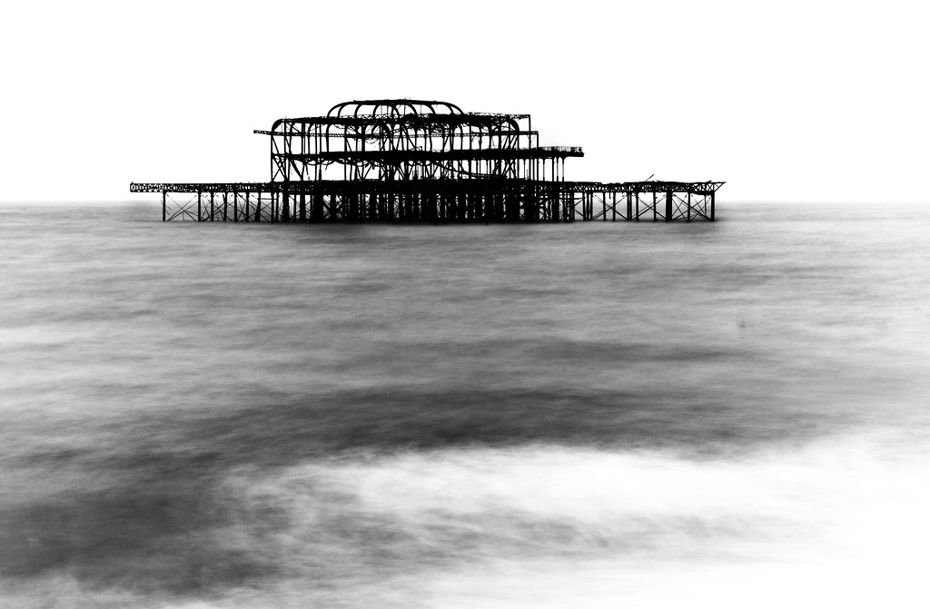 West Pier in a swell
