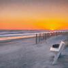 Sunset Bench Impasto