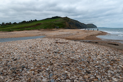 River mouth at Charmouth