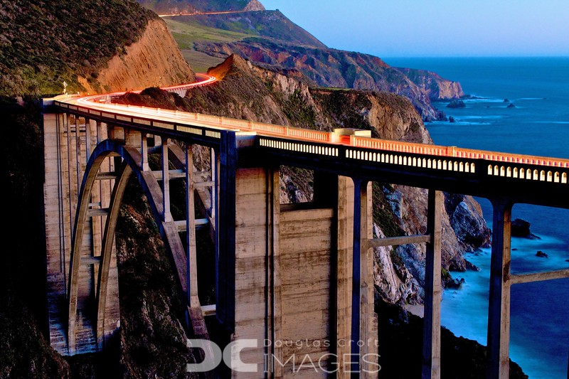 The Bixby Bridge at Dusk