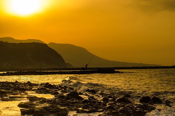 On a quay near Kyrenia, northern Cyprus.