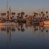 Harvest Moonset Ventura Harbor