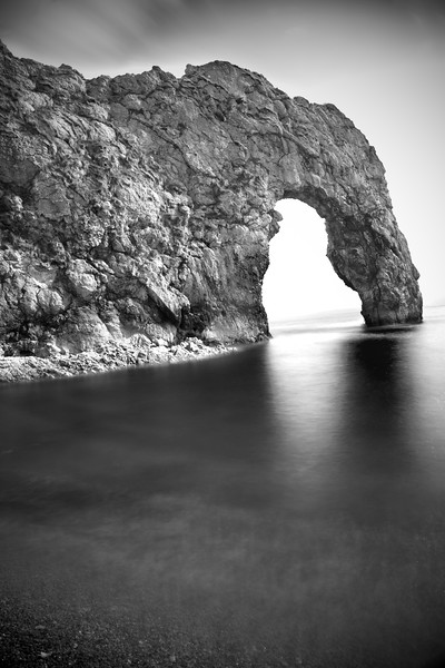 Durdle Door, black and white long exposure