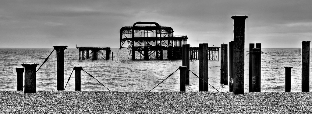West Pier Brighton from the beach