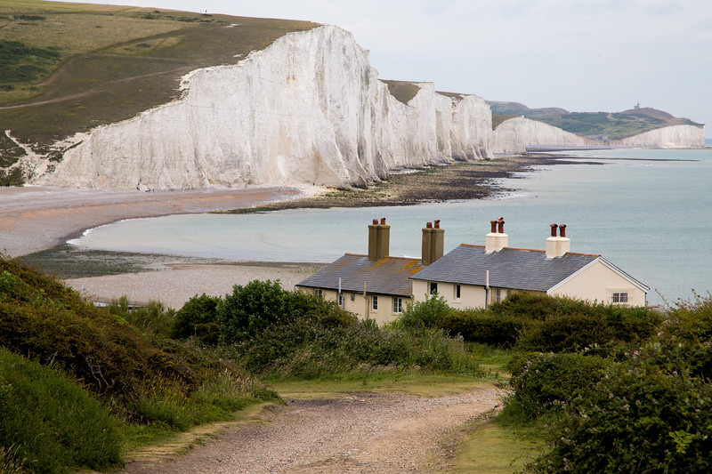 The Seven Sisters and Fisherman's Cottages    colour