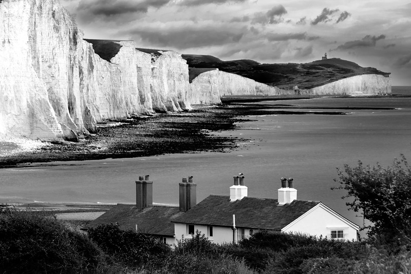 The Seven Sisters and Fisherman's Cottages
