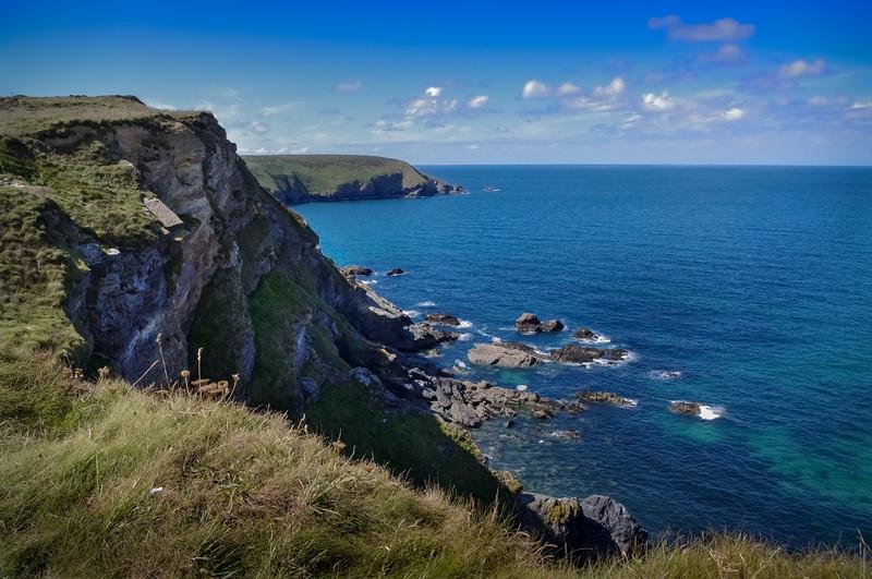 Cornwall cliffs.