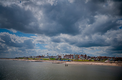 Southwold beach and lighthouse.