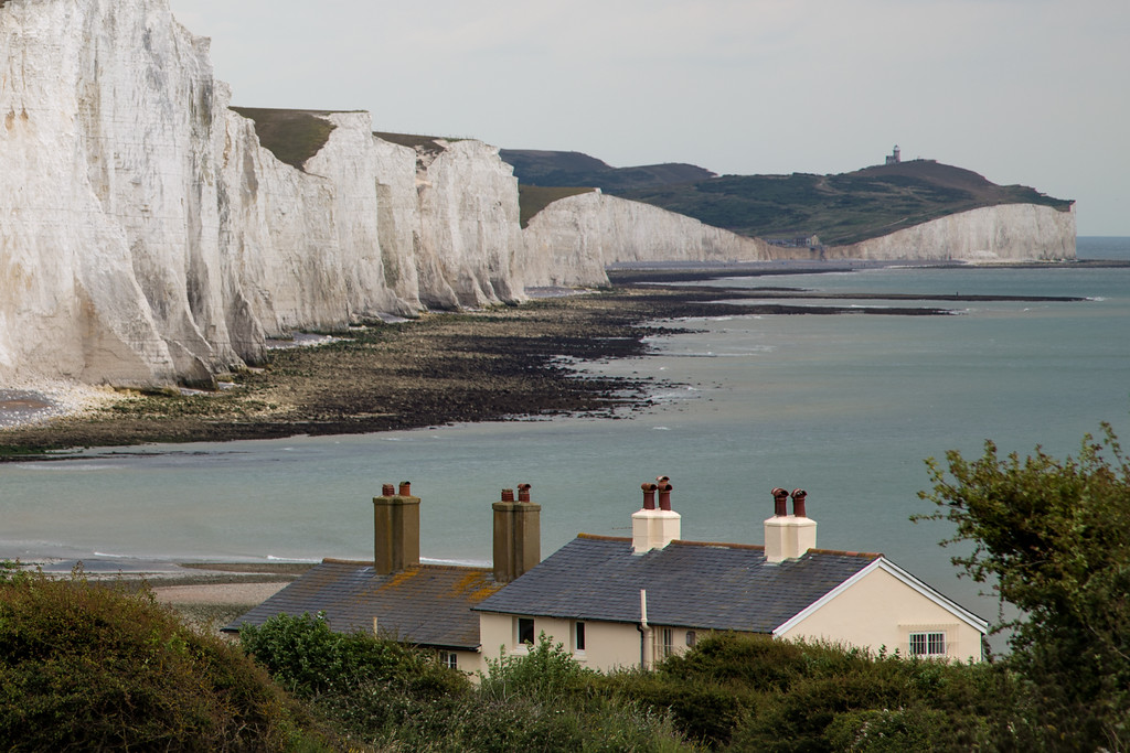 The Fisherman's Cottages with The Seven Sisters