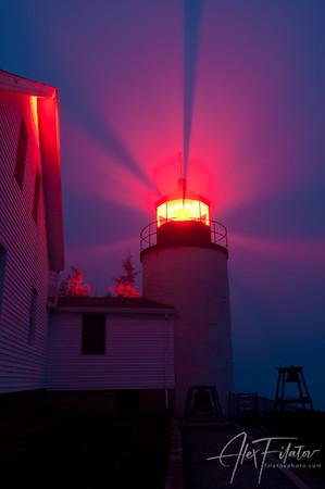 Bass Harbor Lighthouse in Fog