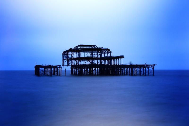 Ruins in Blue
