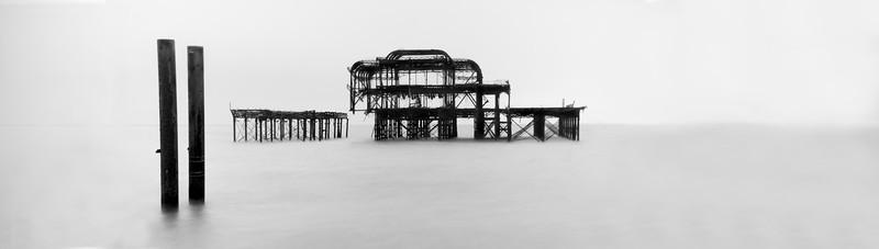 Hanging on - The West Pier Brighton Sussex - wide shot