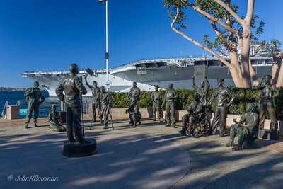 Monument to Bob Hope's USO Tours, Tuna Harbor Park