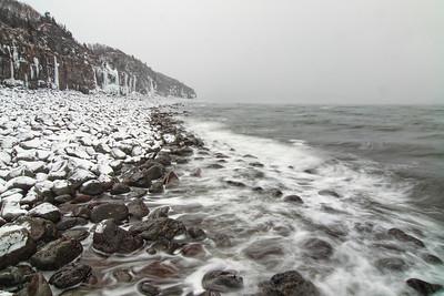 Winter storm Shag Cliffs Nova Scotia Bay of Fundy