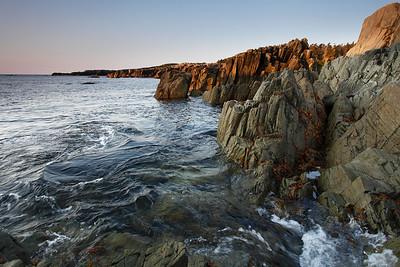 South coast rocks of Cape Breton Island Nova Scotia North Atlantic Ocean